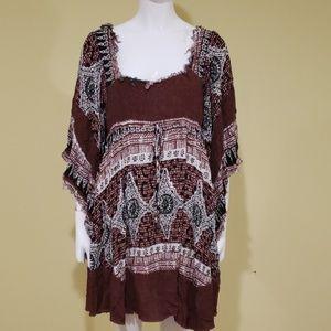 Free People boho rag dress
